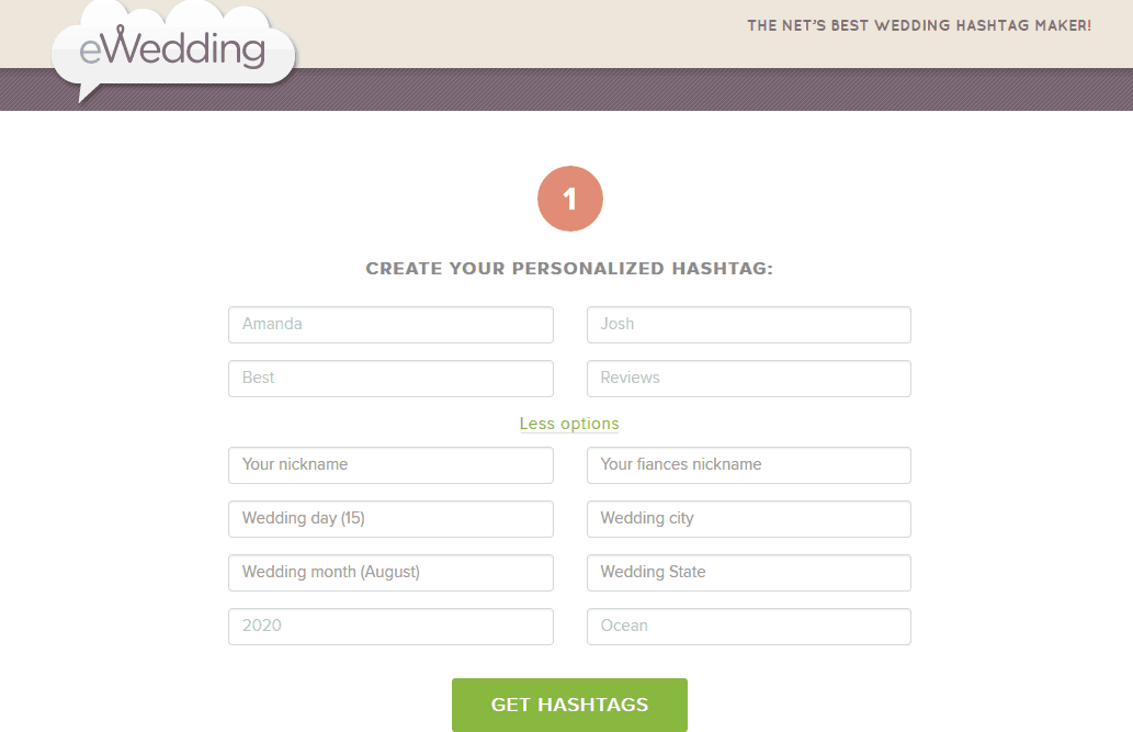 Wedding Hashtags Generator.Empower Your Wedding With The Perfect Hashtag Wedding