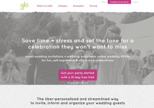 Glö homepage