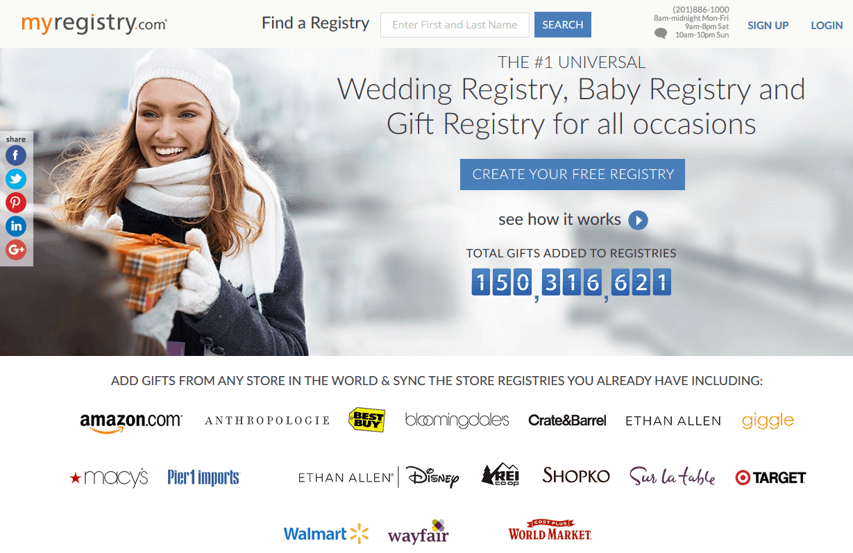 Myregistry reviews by wedding experts couples best reviews myregistry homepage malvernweather Image collections