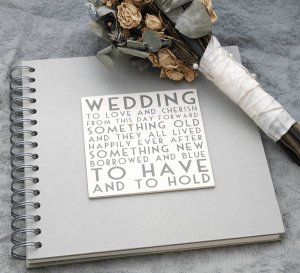 Wedding book for the guests
