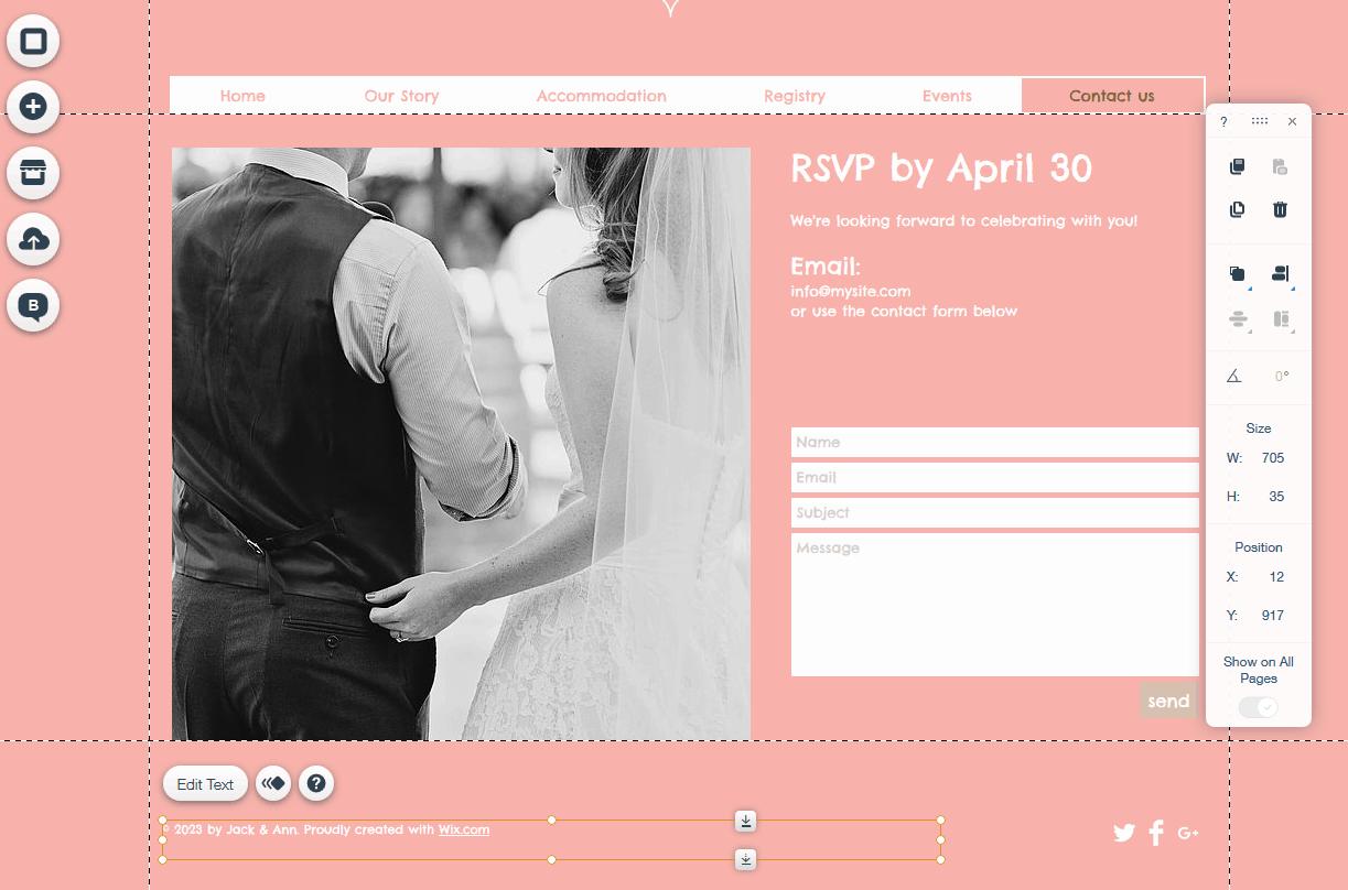 wix wedding rsvp