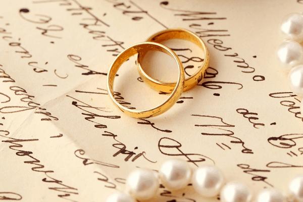 Writing wedding website